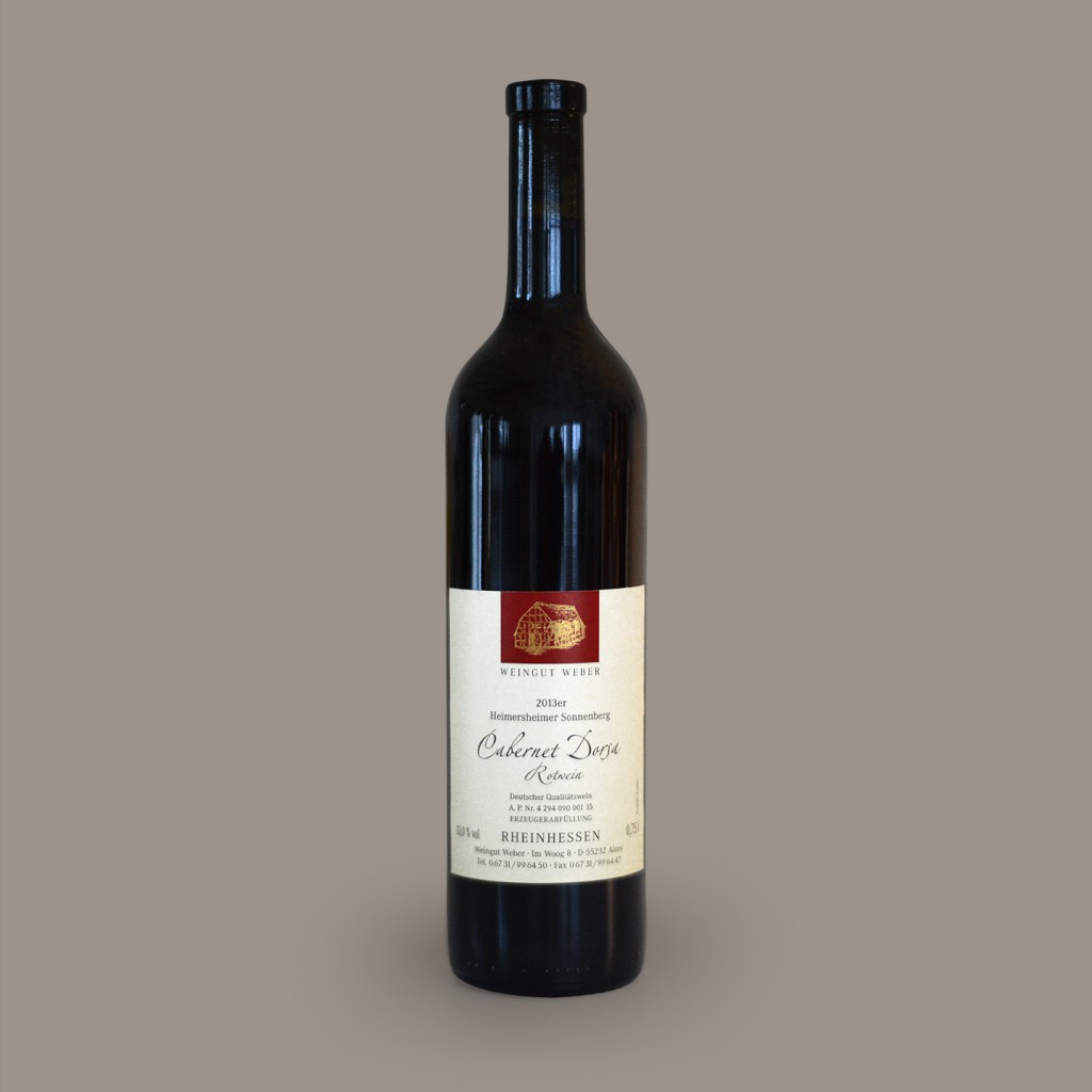 Cabernet Dorsa - Weinflasche vom Weingut Weber